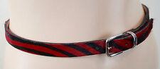 Wolford Mujer Rojo Y Negro Rayas Hair & Cinturón de cuero anchura Slim Sz:70