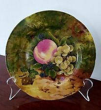 Limoges Rochard Salad Plate fruit Heritage sign LIM407 scalloped edge VTG France