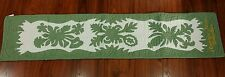 """Hawaiian quilt  100% hand quilted appliqued table runner wall hanging 13""""x60"""""""