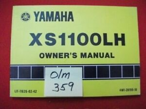 VINTAGE 1981 YAMAHA XS1100LH FACTORY ISSUED OWNER'S MANUAL-OEM-HTF COLLECTIBLE