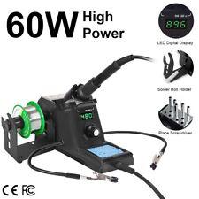 60W 220V SMD Digital Soldering Station Iron Kit Adjustable Temperature 90-480℃