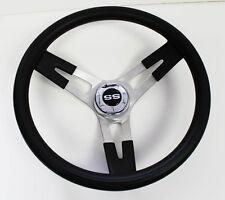 New! SS Chevelle Nova Camaro Impala Grant Black Steering Wheel 16 1/2 shallow