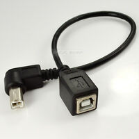 USB 2.0 B female to right angle B male printer short extension cable Adapter