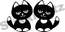 Cute Cat cats Kittens Car Window Camper Van Wall Decorative Stickers Decal CA9