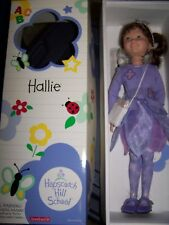 "New in Box Retired American Girl Hopscotch Hill 16"" Hallie Doll with Book HTF"