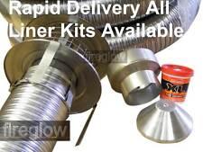 Multifuel 316 Stainless Steel Chimney Flexible Flue Liner Stove Install Kit
