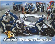 "2013 BRIAN VICKERS ""AARON'S DREAM TEAM"" PIT CREW NASCAR POSTCARD"