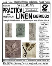 Weldon's 2D #68 c.1890 Practical Linen Embroidery - Victorian Era Instructions