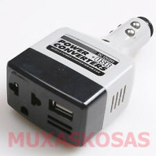 CONVERSOR INVERSOR 12V DC a 220V AC MECHERO COCHE CAMION USB CARGADOR MOVIL MP3S