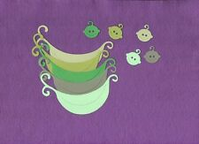 PEAS IN A POD die cuts scrapbook cards