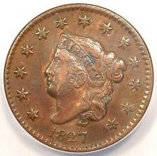 1827 Coronet Matron Large Cent 1C - Anacs Xf40 Details (Ef40) - Rare Coin!