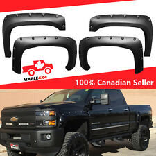 Reg-Long Box 2014-2017 Silverado Fender Flares 15/25HD/35HD Pocket Riveted Black