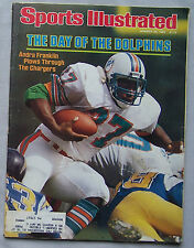 1983 Sports Illustrated Andra Franklin Miami Dolphins Vs San Diego Chargers