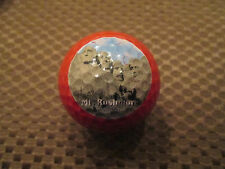 LOGO GOLF BALL-MT. RUSHMORE........RED BALL....RARE....AWESOME..
