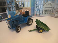 ERTL FORD LAWN TRACTOR AND JOHN DEERE TRAILER 1/12 SCALE