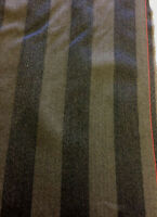 Brown Stripes 100% Wool Curtain/Furnishing Fabric. Made In England.