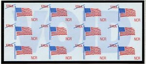 "Scott #TDB84De NCR  ""Flying  Flag""  ATM Test/Demo Stamp Pane"