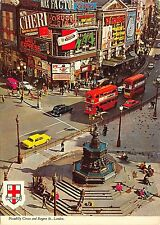 BF1870 piccadilly circus and regent street london double decker bus  car   uk