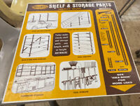 Vintage STEEL CITY SHELF AND STORAGE Advertising Sign Rare