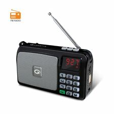 AMKETTE POCKET FM RADIO +CLOCK +ALRAM +USB +MICRO SD CARD +TORCH +RECHARGEABLE