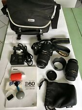 Nikon D60 SLR Digital Camera With Zoom and Extras