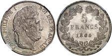 France - Louis Philippe - Splendide 5 Francs 1844 BB - NGC MS63 - CI !