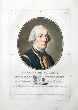 1791 CHARLES DE FOLARD CHEVALIER ORDRE ROYAL ORDINE REALE Incisione a colori