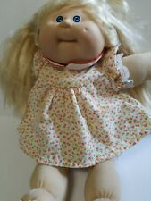 Vintage Cabbage Patch Doll Blonde Hair Original Clothing & Diaper