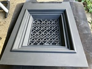 Exquisite 3 Dimensional Cast Iron Victorian Fireplace Summer Cover -1900's