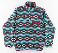 Patagonia Womens XS Synchilla Fleece T Snap Pullover Sweatshirt Jacket Tribal