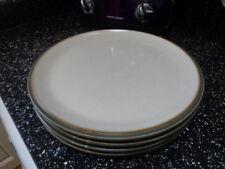 DENBY GREY DINNER PLATES X 4