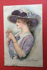 CPA. Illustrateur Clarence UNDERWOOD. Celestine. Jeune Fille. 1916. Chapeau.