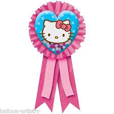 Hello Kitty Adorable Heart Confetti Award Ribbon Badge