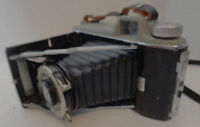 Vintage Kodak Tourist Camera Folding with Bulbs, Flash Attachment, Manual