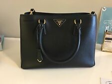 Authentic Prada Saffiano Lux women's handbag with dust bag