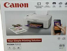 New Genuine Canon PIXMA TS3122 Wireless All-in-One Inkjet Printer in White