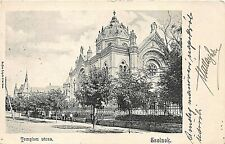 Postcard Judaica Hungary Szolnok Synagogue