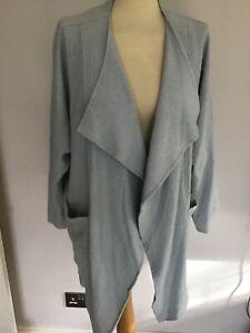PHASE EIGHT baby blue boiled wool blend oversized draping jacket  UK 8 10 12 14