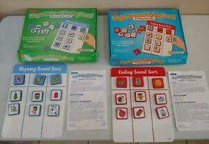 COMPLETE 2 Set Lakeshore Learning Magnetic Sounds Sorting Board RHYMING + ENDING