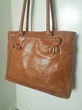 Colorado Tan Embossed Leather Handbag