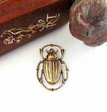 SALE ANTIQUE BRASS Egyptian Bug Scarab Beetle Stamping ~ Jewelry Finding (C-408)