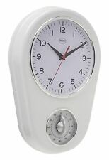 Balance Wall Clock With Mechanical Kitchen Timer (White)