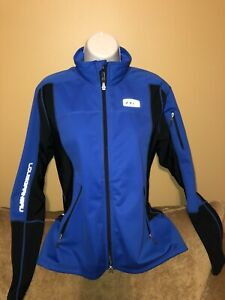Louis Garneau Softshell Womens Royal Blue Biking Cycling Jacket Medium M Euc
