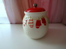 Hallmark Winter Xmas Canisters Mittens Gloves Candy Nut Cookies Gingerbread Jar