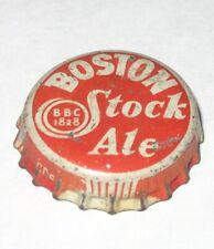 BOSTON STOCK ALE CORK BEER BOTTLE CAP CROWN MASS MASSACHUSETTS MA