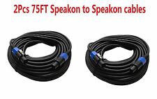 2 In PACK 75FT foot speakon to speakon pro audio sound PA DJ speaker cables cord