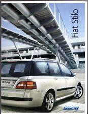Fiat Stilo Multi Wagon 2004-05 UK Market Sales Brochure Active Dynamic