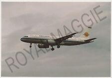 Colour print of Eurocypria Airways Airbus A320 5B-DBK at Newcastle in 2001