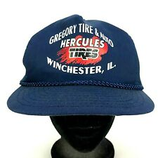 VTG Nissin Gregory Tire & Auto Cap Hat Winchester IL. Snap Back Hat Logo Promo