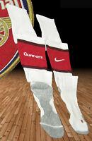 New NIKE ARSENAL Football Socks Player Issue White Adults L UK 7.5- 11 Eur 42-47